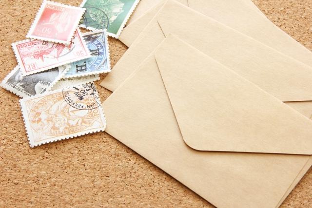 貼り 郵便 忘れ 切手